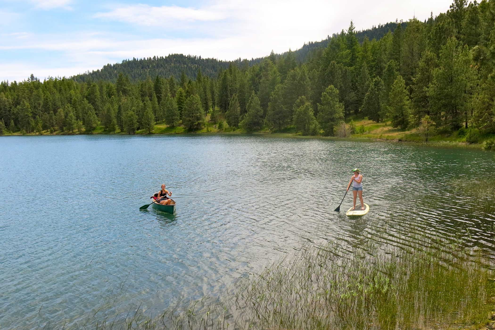 Stand Up Paddleboarding and Canoeing